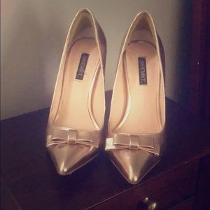 Shoemint rose gold pumps